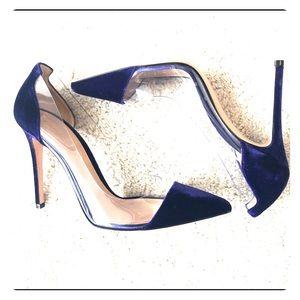 Gianvito Rossi Plexi Pumps. Violet velvet. Size 39